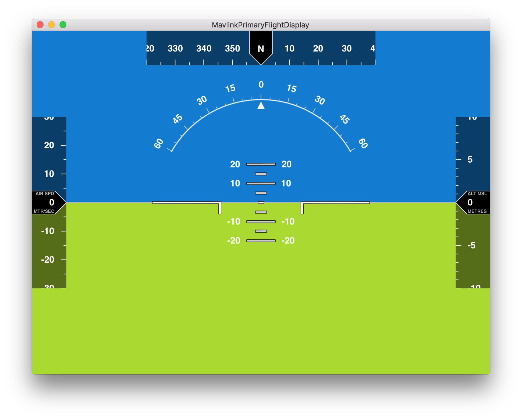 Primary Flight Display for Mavlink - Default Styles